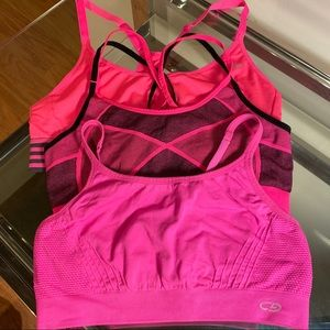 Champion hot pink active athletic sports bras M